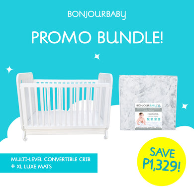 Bundle: Multi-level Convertible Crib & XL Luxe Playmat