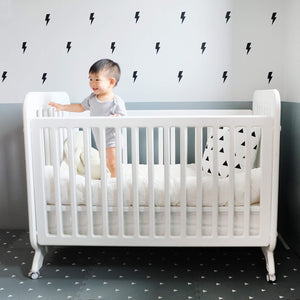 Bundle: Multi-level Convertible Crib & Labebe Wooden Rocker