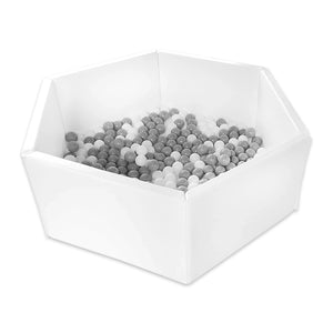 Foldable White Ball Pit with 300 balls