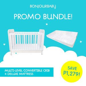 Bundle: Multi-level Convertible Crib & Deluxe Mattress