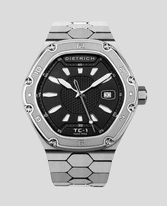 TC-1 Stainless Steel Black Engraved Bezel