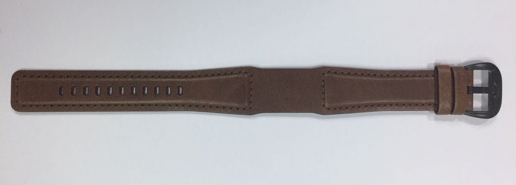 Leather, Brown - Buckle Black PVD