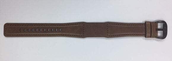 Straight Leather Brown - SS Buckle