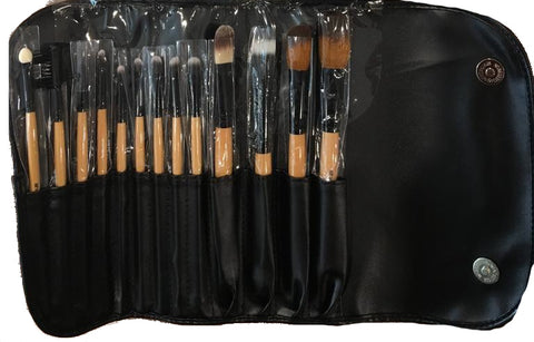 SHUE Brown Leopard 13 Pcs Makeup Brush Set