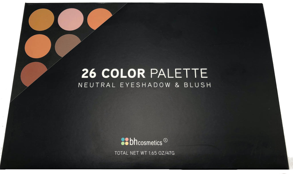 BH Cosmetics 26 Color Palette Neutral Eyeshadows