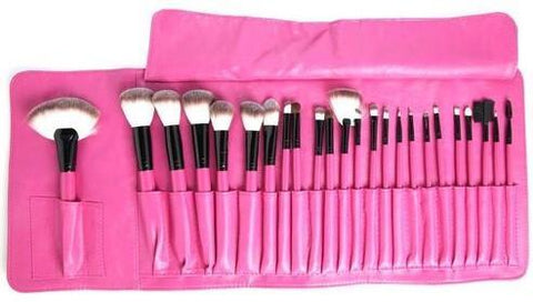 Beauty Creations 24 Pc BIG HOT PINK Brush Set