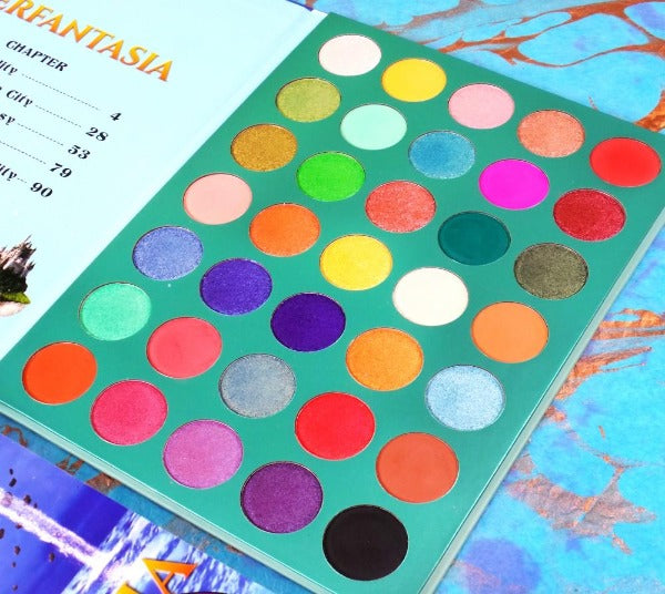"RUDE 35 EYESHADOWS PALETTE ""MERFANTASIA - BOOK 8"""