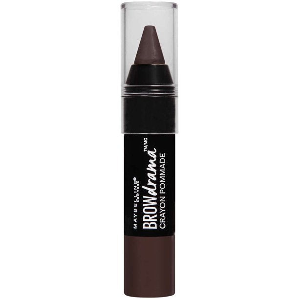 "MAYBELLINE EYEBROW DRAMA POMADE CRAYON ""260 DEEP BROWN"""