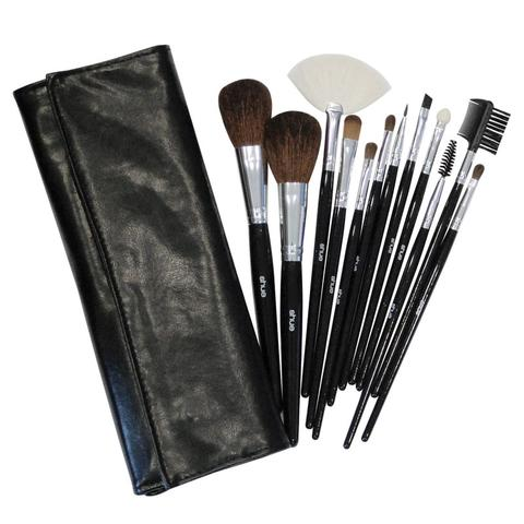 SHUE 12 Pcs Black Makeup Brush Set