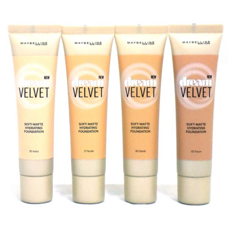 MAYBELLINE DREAM VELVET SOFT-MATTE HYDRATING FOUNDATIONS