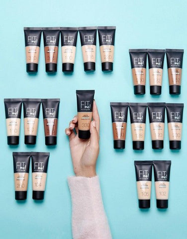MAYBELLINE FIT ME MATTE AND PORELESS FOUNDATIONS TUBE