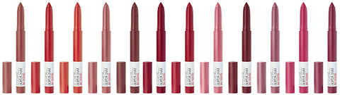 MAYBELLINE SUPERSTAY INK CRAYON, MATTE LONGWEAR LIPSTICKS