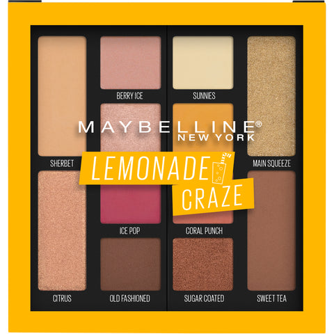"MAYBELLINE EYESHADOWS PALETTE ""LEMONADE CRAZE"""