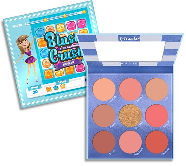 "RUDE 9 COLOR BLUSH PALETTE ""BLUSH CRUSH - LEVEL UP"""