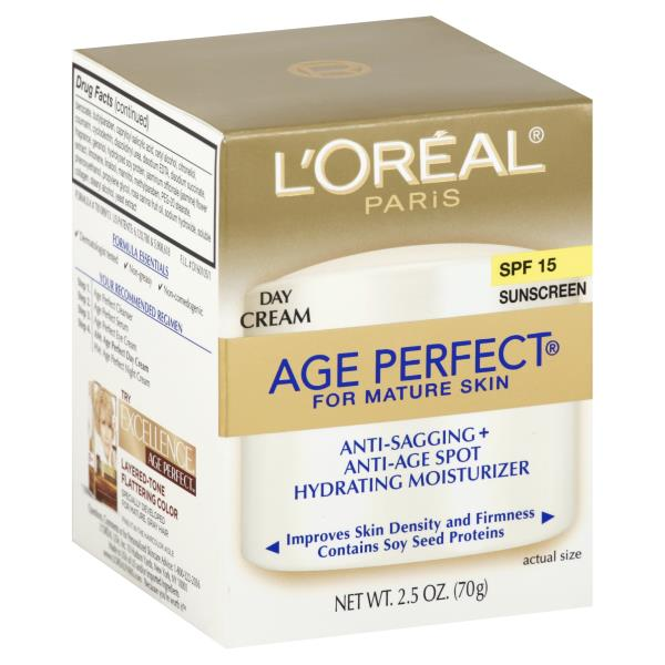 L'OREAL PARIS AGE PERFECT FOR MATURE SKIN ANTI-SAGGING, ANTI-AGE SPOT, HYDRATING MOISTURIZER DAY CREAM