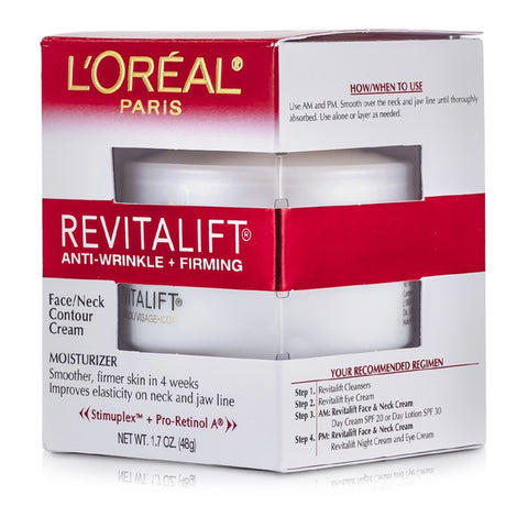L'OREAL REVITALIFT ANTI-WRINKLE + FIRMING, FACE NECK CONTOUR CREAM