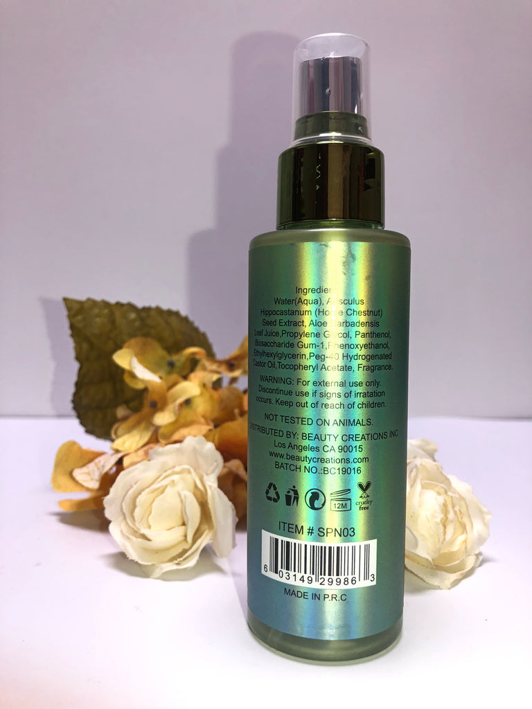 "BEAUTY CREATIONS ""CUCUMBER"" SETTING SPRAY"