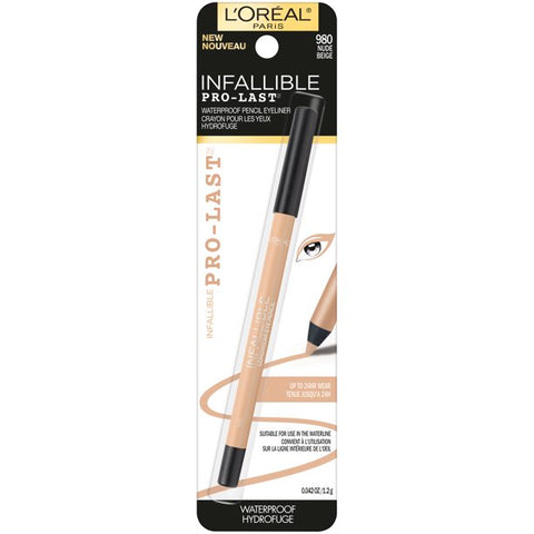 "L'OREAL PARIS ""INFALLIBLE PRO-LAST WATERPROOF, UP TO 24HR PENCIL EYELINER"""