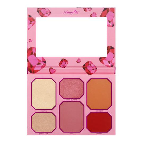 "AMOR US BLUSH & HIGHLIGHTER PALETTE ""PINK RUBY"""