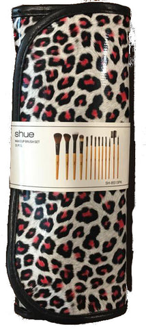 SHUE Pink Leopard 13 Pcs Brush Set