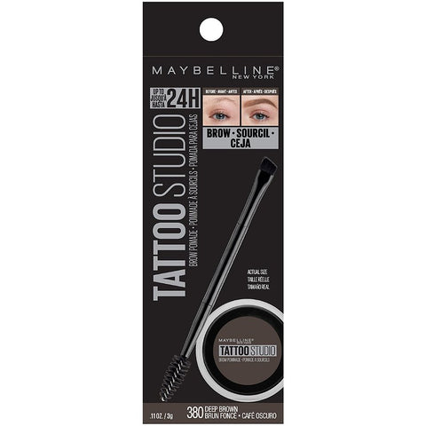 "MAYBELLINE ""TATTOO STUDIO BROW POMADE LONG LASTING, BUILDABLE EYEBROW MAKEUP"""