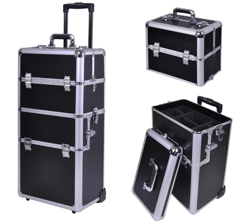 Large Black 3 in 1 Makeup Travel Case