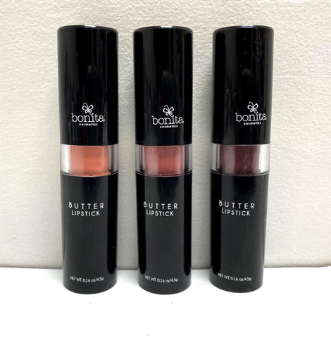 BONITA COSMETICS BUTTER LIPSTICK 3 PIECE SET