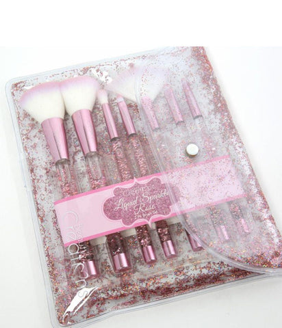 "BEAUTY CREATIONS LIQUID ""ROSE"" SPARKLE BRUSH SET"
