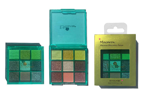 U.S COLOURS EYESHADOWS PALETTE - MACARON GREEN