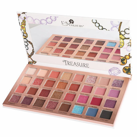 "U.S. COLOURS EYESHADOW PALETTE ""TREASURE"""