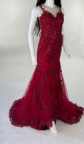 Lace Sequence Gown