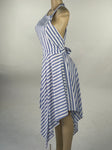 Striped flirty blue dress
