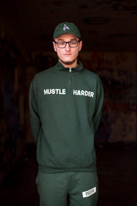 """Hustle Harder"" Zip up Jacket - Grind x Grow x Prosper Clothing Co."