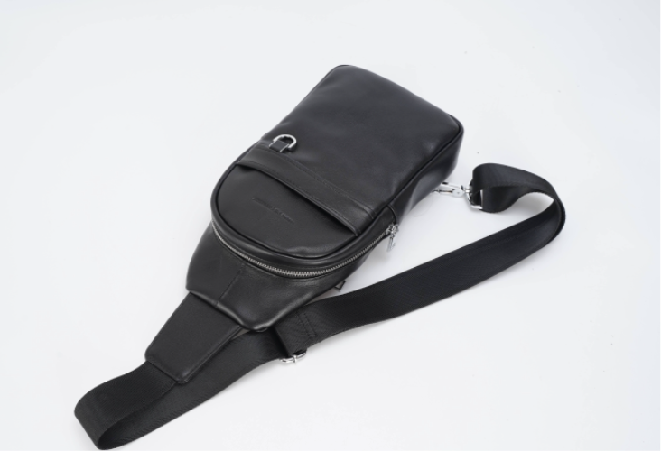 I MIGHT DIE TOMORROW - LEATHER SLINGSHOT BAG
