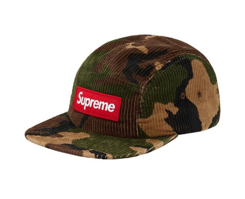 "SUPREME ""CAMO CORDUROY CAMP CAP"" - THE SPOT BOUTIQUE"