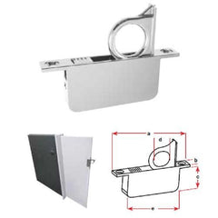 Concealed Door Ring Pull - Cast Stainless Steel - 85 x 12mm