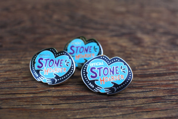 _Official Stone Hoarder enamel pin