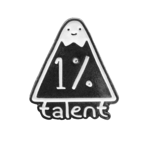 1%talent logo pin