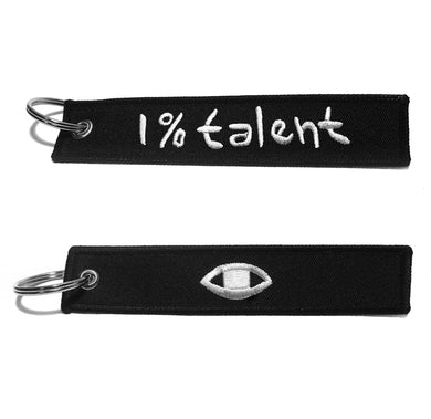 1%talent + Eye Keyring