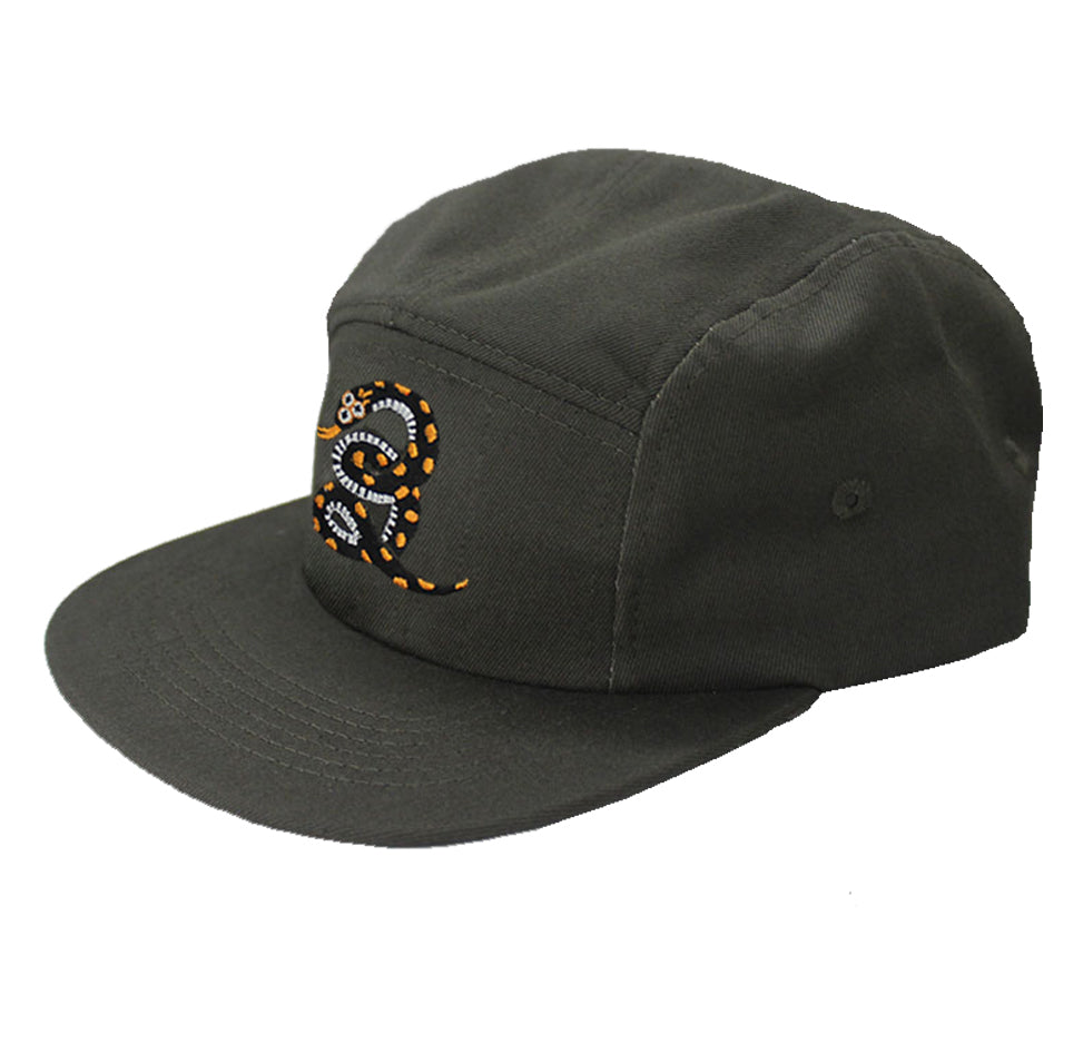 Curly Snake 5 Panel Cap