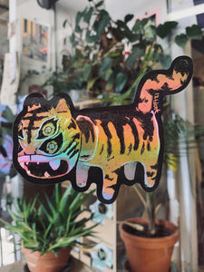 Holographic Paper Tiger Sticker