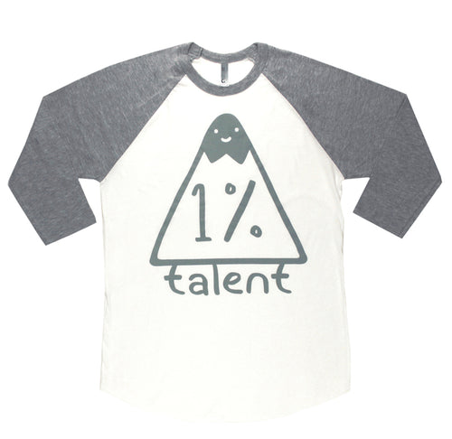 1%talent Logo Raglan
