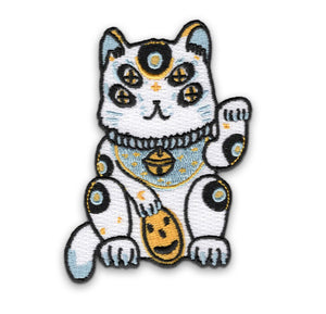 Lucky White Blue Cat Patch