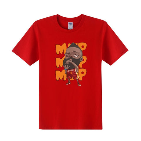 NBA Superstar Cartoon Graphic T-Shirt