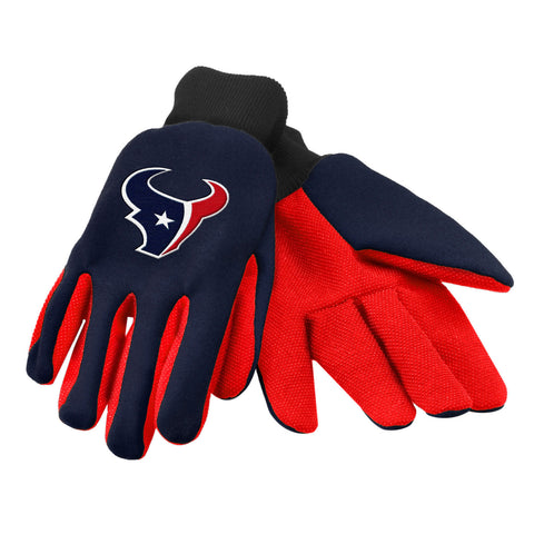 NFL Team Logo Colored Palm Utility Gloves
