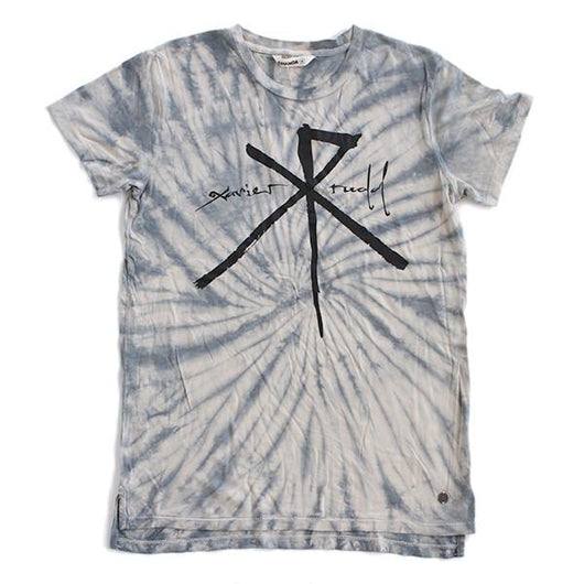 T-Shirt | 'XR' Logo on Blue Tie Dye