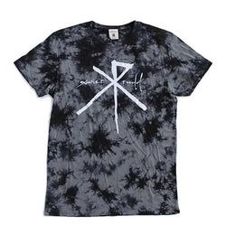 T-Shirt | 'XR' Logo on Charcoal Tie Dye