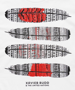 T-Shirt | Xavier Rudd & the United Nations 'Feather' on White