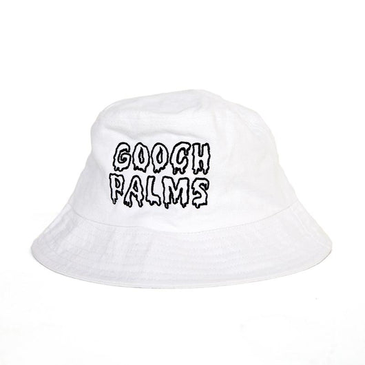 Hat | 'Melting' Logo Bucket Hat in White