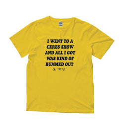 T-Shirt | 'Bummed Out' on Yellow - Ceres - The Racket Club